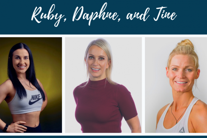 On-Line Streaming Fitness Classes from Tine, Ruby, Daphne and your group fitness team